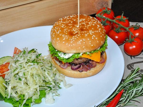 Бургер Фреско со свежими овощами